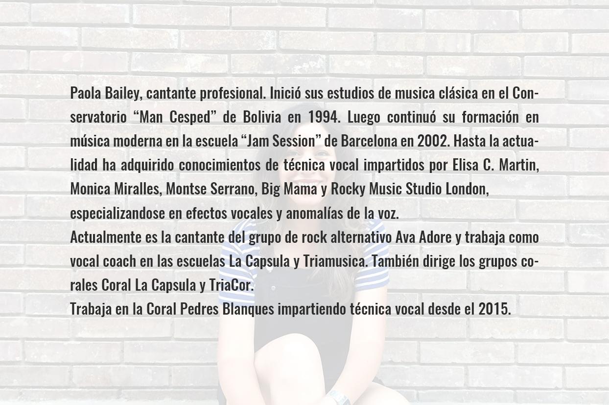 Paola bailey CV castellano