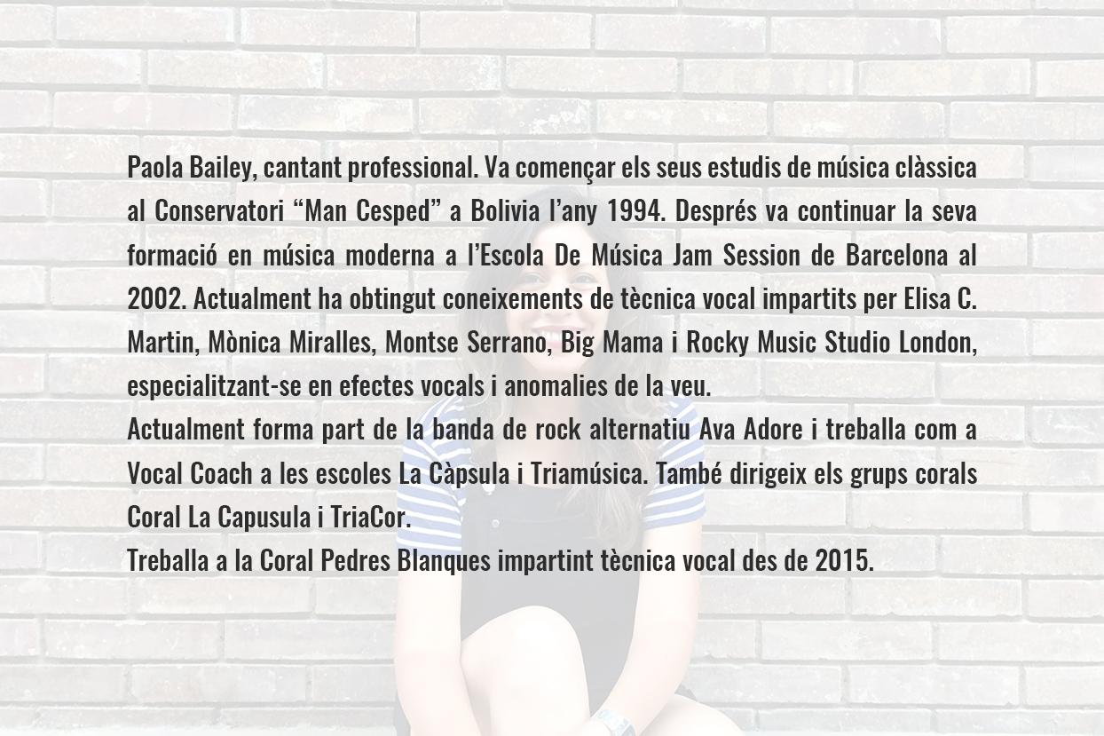 Paola bailey CV catalán
